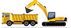 excavator++kamion